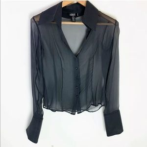 Laundry by Shelli Segal Toop Sheer Silk Blouse